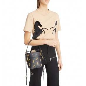 Roy Mini Embroidered Leather Bucket Bag