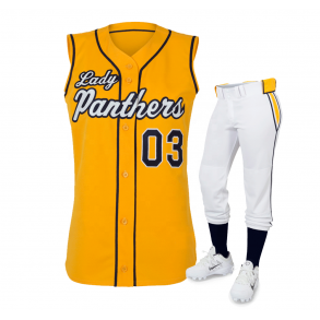 Baseball Yellow Jersey with White Pant