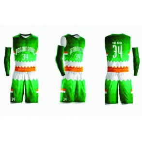 Basketball Green and White Design