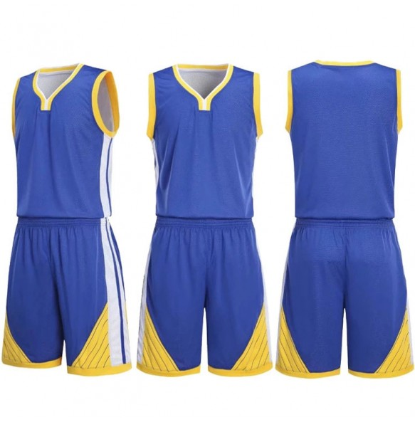 Basketball Blue and Yellow Design