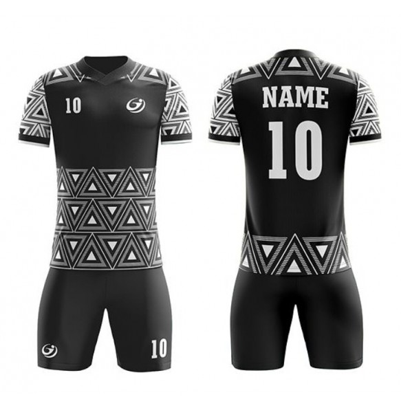 Soccer uniform with white texture